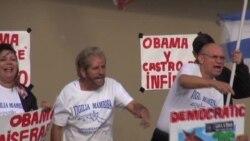 Protestas en Miami por viaje de Obama