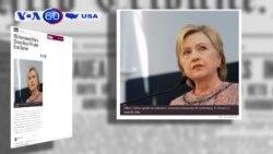 FBI thẩm vấn bà Hillary Clinton về vụ email cá nhân (VOA60)