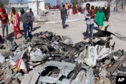 """""""Al-Shabab"""" guruhi amalga oshirgan hujumlardan biri, Mogadishu, Somali, 2019-yil, 23-mart"""