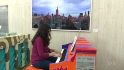 NYC Art Show Features Colorfully Painted Pianos in NYC Streets