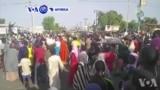 VOA60 Afirka: Al'umomin Da Rikicin Boko Haram Ya Raba Da Gidajensu, Sun Fito Zanga-zanga Kan Tituna A Maiduguri