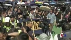 時值週末連儂牆被拆 香港衝突風險增加 (粵語)