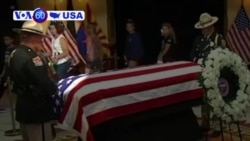 VOA60 America - Tributes to McCain Begin in Home State of Arizona
