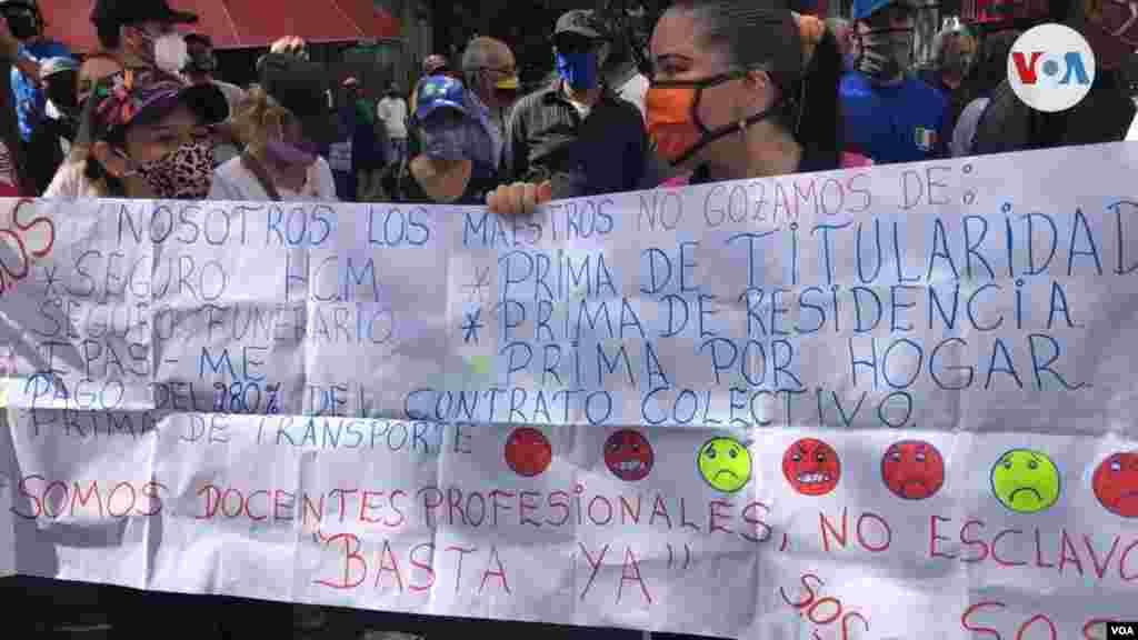 Hubo protestas no solo en Caracas, sino también en el interior del país.