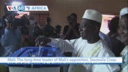 VOA60 Africa - The long-time leader of Mali's opposition, Soumaila Cisse, has died at the age of 71