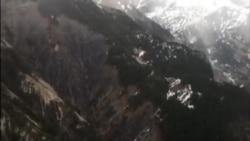 Vue aérienne du site du crash de l'appareil de Germanwings