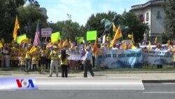 Biểu tình trước tòa đại sứ Việt Nam tại Mỹ