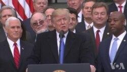 尽管支持率低迷 川普希望借税改胜利扩大战果