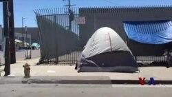 加州洛杉矶无家可归者人数增多
