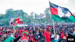 Thousands of suppoters attended political rallies in lead up to the fresh polls. (Lameck Masina/VOA)
