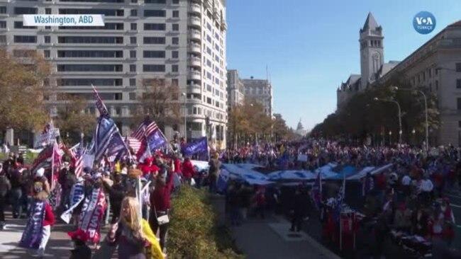 Washington'da Trump'a Destek Gösterisi