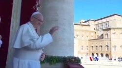2017-12-26 美國之音視頻新聞: 教宗聖誕講道呼籲談判化解衝突
