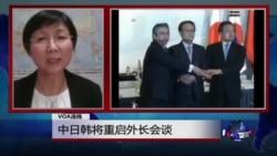 VOA连线:中日韩将重启外长会谈
