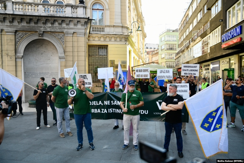 Anti LGBTI skup u Sarajevu, 14. august 2021.