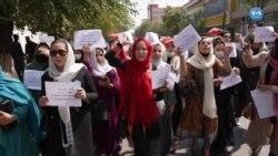 Kabil'de Kadınlardan 10 Dakika Süren Protesto