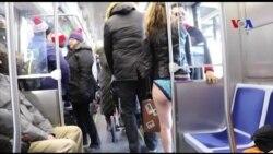 Ngày 'Tàu điện không quần dài' ở Chicago