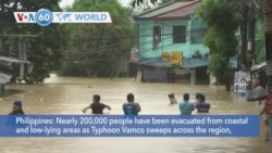 VOA60 Addunyaa - Typhoon Vamco has caused nearly 200,000 people in the Philippines to be evacuated