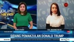 Laporan VOA untuk Metro TV: Sidang Pemakzulan Donald Trump