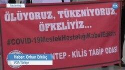 Gaziantep'te Sağlık Çalışanları Kaybettikleri Meslektaşlarını Andı