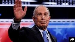 Mgombea kiti cha rais, meya wa zamani wa New York, Mike Bloomberg.
