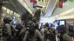 """香港民眾母親節""""和你唱""""抗議 警方在多處截查"""