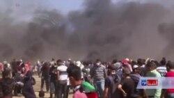 تظاهرات فلسطینی ها امروز نیز ادامه داشت