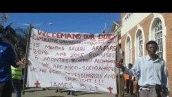 National Railways of Zimbabwe Workers Demonstrate Over Outstanding Pay