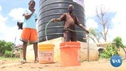Na cidade de Nampula, fontanários móveis minimizam o problema no abastecimento de água potável