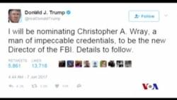 川普提名前聯邦檢察官任FBI局長 (粵語)