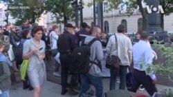 У Москві затримали 10 учасників акції на підтримку Сенцова. Відео