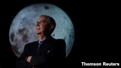 University of Colorado Boulder director of NASA/NLSI Lunar University Network for Astrophysics Research Burns stands for a portrait at the Fiske Planetarium.