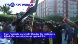 VOA60 World - 5 Protesters Shot Dead in Baghdad