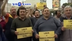 VOA60 DUNIYA: ARGENTINA Direbobin Taxi Sunyi Zanga Zanga Akan Kanfanin Uber