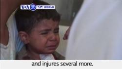 VOA60 World- Yemen: Pro-Hadi troops and Houthi rebels clash in Taiz, shelling on civilian neighborhood kills three children