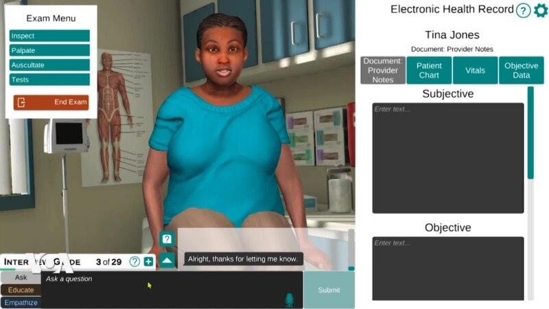 Shadow Health, une plateforme de formation virtuelle pour les infirmiers